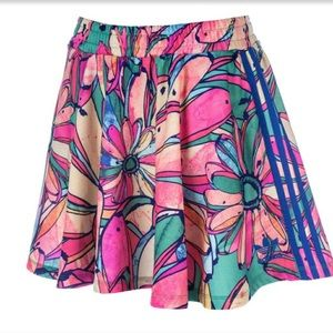 Adidas Originals trefoil flared banana skirt NWT